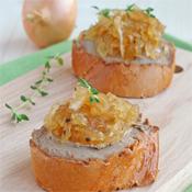 Cebolla Caramelizada con <br/>Mermelada